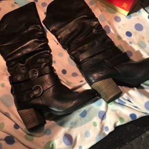 Shoes - Mid Calf Low Heel Slouch Riding Boot size 8